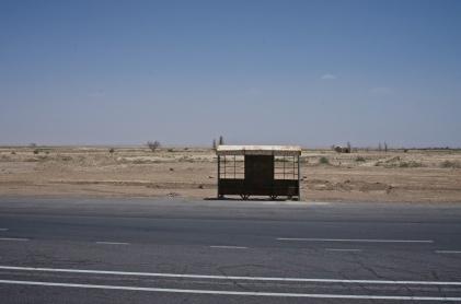 Bushaltestelle an der Wüstenstraße