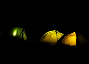 Nacht auf dem Zeltplatz