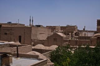 Yazd - in der alten Stadt gibt es fast ausschließlich die alte Lehmbauweise