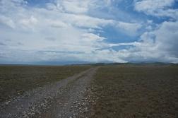 Der Weg zum Festival durch die Steppe
