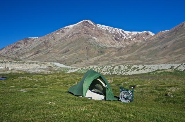 Zeltplatz auf 4100m