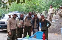 Landminenarbeiter laden mich ein