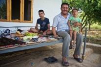 Picknick mit einer usbekischen Familie