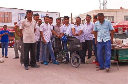 Jadesteinverkäufer in Xinjiang