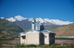 Moschee im letzten Dorf in Kirgistan