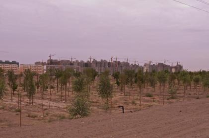 Chinesische Stadt, noch nicht bei Google Maps zu finden