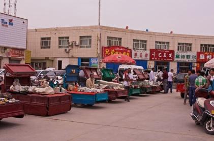 Steinmarkt in Ruoqiang
