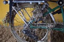 Das Hinterrad ist ein wenig schmutzig geworden