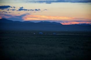 Abendsonne in der Mongolei