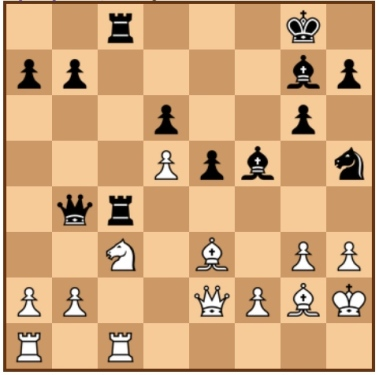 Preisfrage: Warum ist 21. ... Sf4 in dieser Stellung ein guter Zug? (Botvinik - Tal, WM 1960)