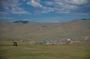 bunte mongolische Dörfer