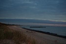 Blick vom Zeltplatz auf das baltische Meer