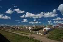 Mongolisches Dorf