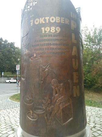 Plauen war der Ort der ersten Massendemonstration in der DDR