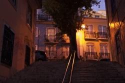 Steigen in Lissabon
